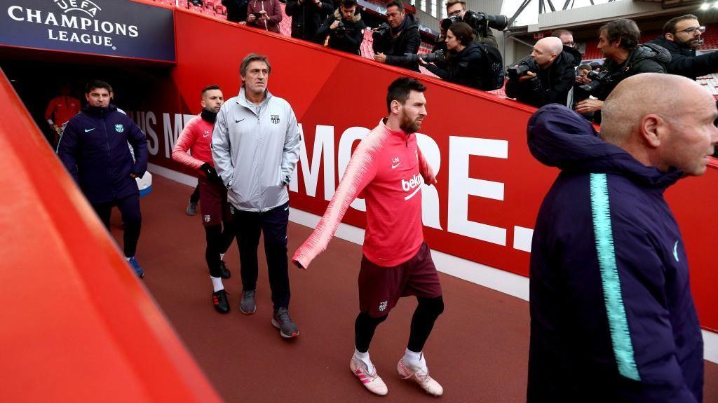Liverpool vs Barcelona: Lionel Messi dkk Panaskan Mesin di Anfield