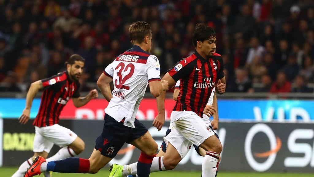 Hasil Liga Italia: Diwarnai Kartu Merah, Milan Atasi Bologna 2-1