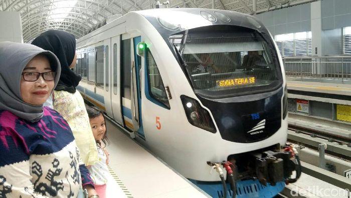 Foto: LRT Palembang. (Raja Adil-detikcom)