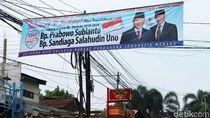 Spanduk Klaim Kemenangan Prabowo-Sandi Muncul di Bintara Jaya Bekasi