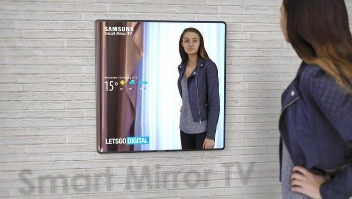 Render TV Cermin Samsung. (Foto: Dok. LetsGoDigital)