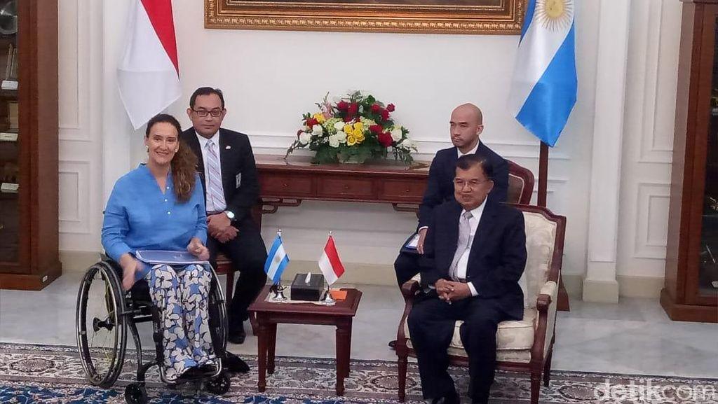 Terima Kunjungan Wapres Argentina, JK Bahas Kerja Sama Investasi