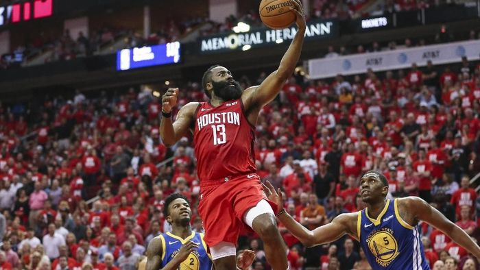 Houston Rockets memenangi gim keempat atsa Golden State Warriors untuk menyamakan kedudukan jadi 2-2 di semifinal NBA Wilayah Barat (Foto: Troy Taormina-USA TODAY Sports)
