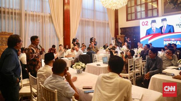 Penggalan Curhatan Prabowo Saat Jamu Perwakilan Media Asing