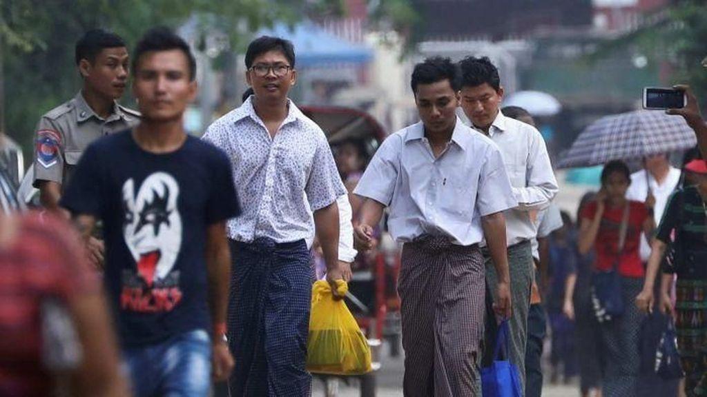 Wartawan Reuters di Myanmar Dibebaskan Setelah Ditahan 500 Hari