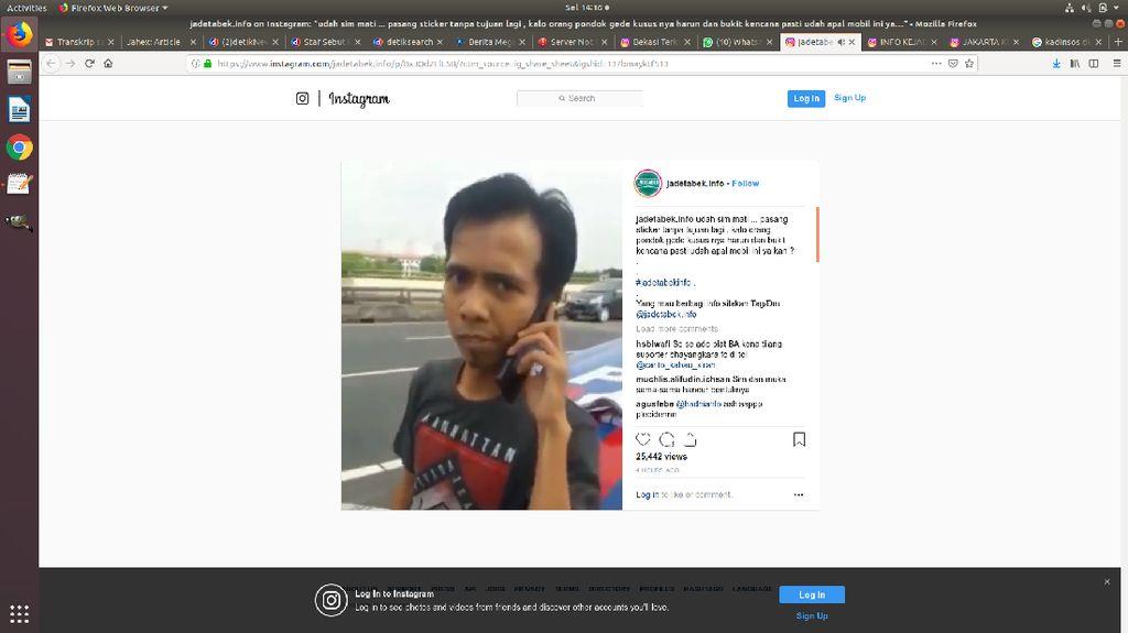 Sopir Mobil Berstiker Ampun Pak Polisi Uang Kami Habis Ditilang SIM Mati