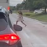 Wanita Ini Lepas Baju di Jalan dan Sebabkan Macet
