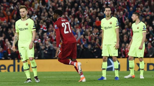 Barcelona disingkirkan Liverpool dari Liga Champions.