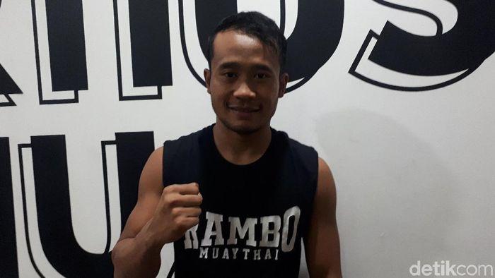 Yusuf Widiyanto, pewushu di nomor sanda (Mercy Raya/detikSport)