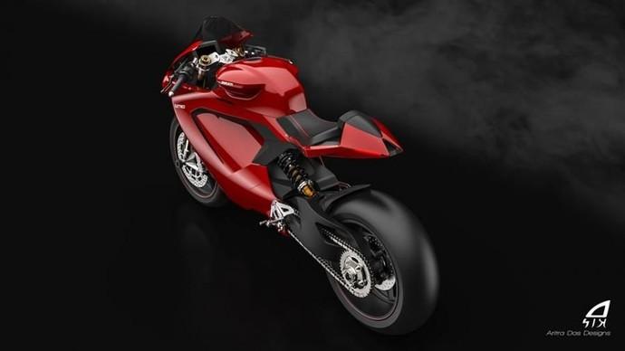 Awal tahun ini, bos Ducati Claudio Domenicali memastikan produsen motor sport Italia itu akan terjun ke dunia listrik. Sekarang para desainer pun coba menerka-nerka bakal seperti apa motor Ducati bertenaga listrik itu. Foto: Pool (visordown)