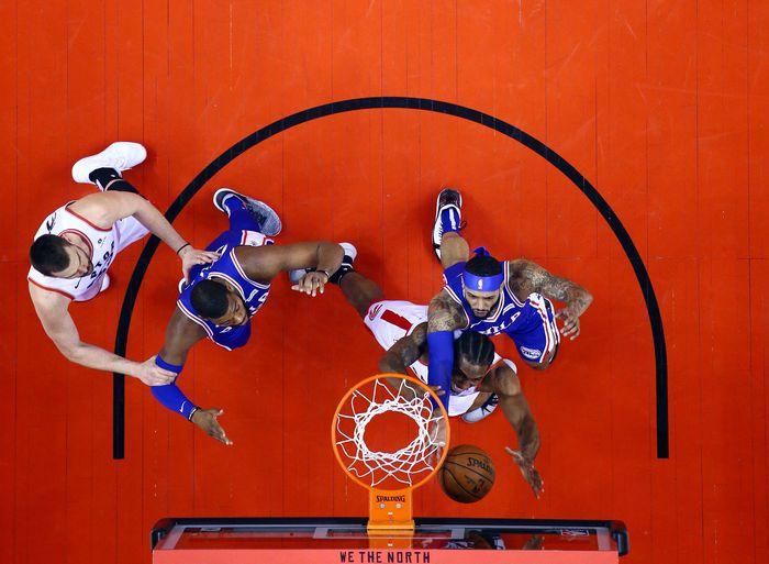 Toronto Raptors di ambang kelolosan ke final Wilayah usai memenangi gim kelima. (Foto: Vaughn Ridley / Getty Images)