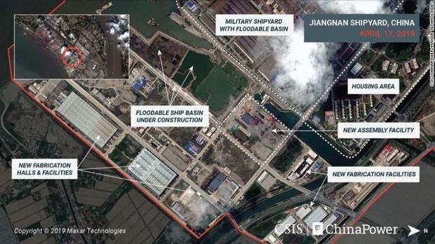 Citra satelit terbaru tunjukkan aktivitas China yang sedang merakit kapal induk terbaru