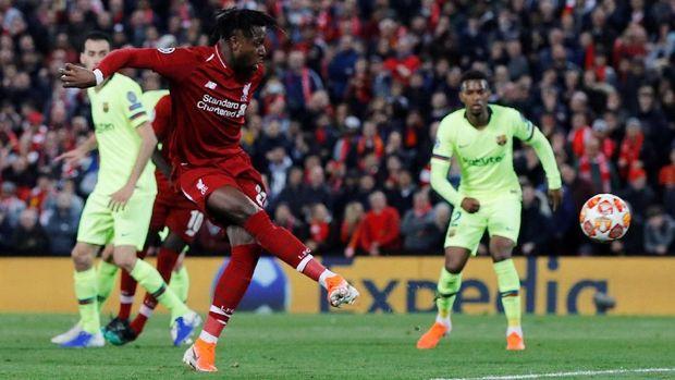 Divock Origi jadi pahlawan kemenangan Liverpool atas Barcelona.