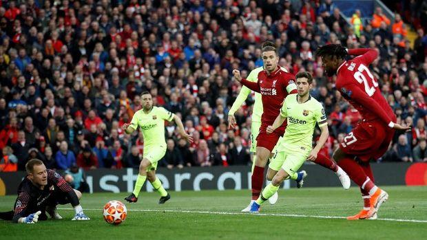 Liverpool singkirkan Barcelona dari Liga Champions.