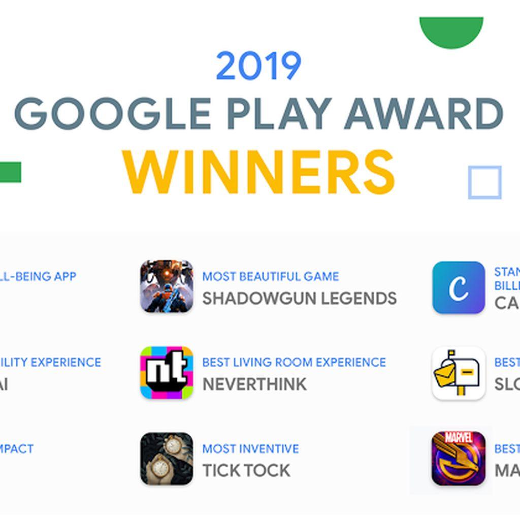 Daftar Aplikasi dan Game Pemenang Google Play Awards 2019
