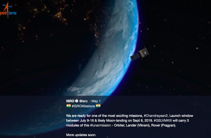 Pengumuman India mau ke Bulan. Foto: Twitter