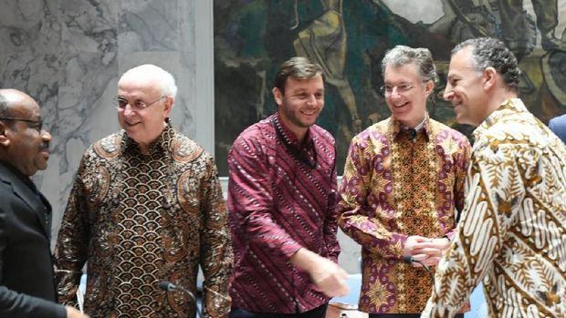 Dipimpin Indonesia, Sidang Dewan Keamanan PBB Diwarnai 'Diplomasi Batik'