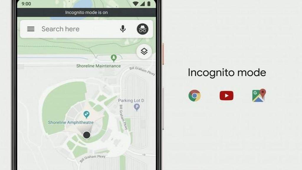 Google Maps Tawarkan Mode Incognito