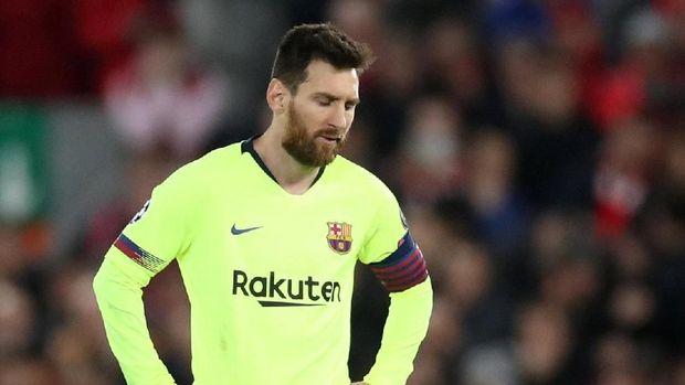 Lionel Messi hanya merebut satu gelar bersama Barcelona musim ini.