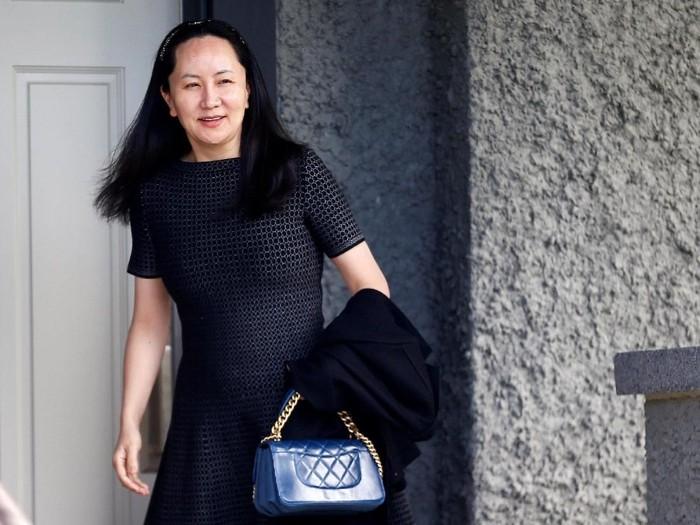Meng Wanzhou saat akan menghadiri sidang ekstradisi di Vancouver (REUTERS/Lindsey Wasson)