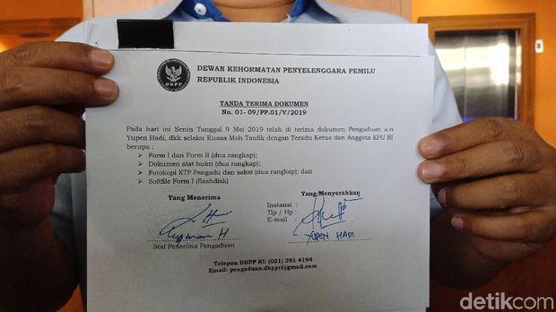 Ketua KPU Arief Budiman Dilaporkan ke DKPP