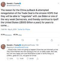 Panas! Trump Ngotot Naikkan Bea Impor, China Ancam Membalas