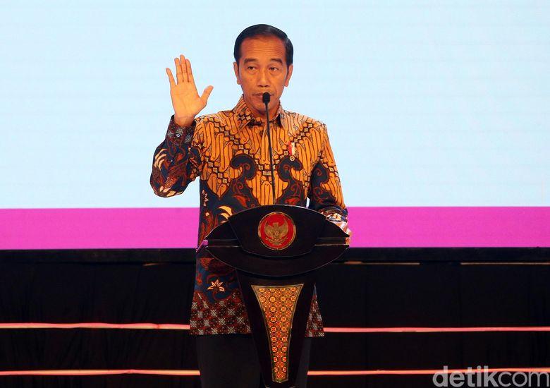 Presiden Joko Widodo (Jokowi) membuka forum perencanaan Musrenbangnas 2019 dan RKP 2020 di Hotel Shangrila, Jakarta Selatan, Kamis (9/5/2019).