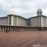 Mengintip Suasana Masjid Istiqlal yang Sedang Direnovasi