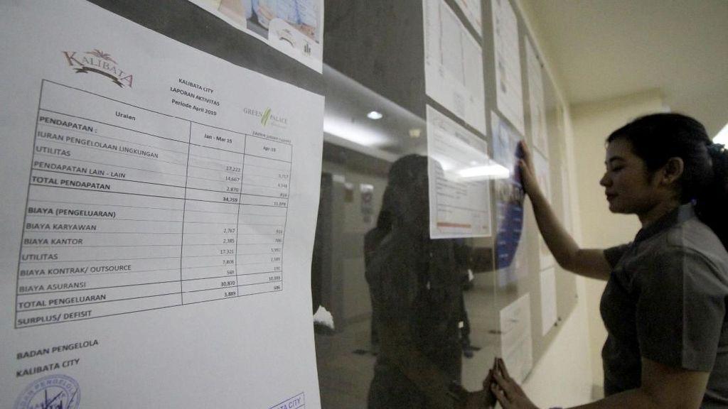Kalibata City Pajang Laporan Keuangan di Akses Lift Apartemen