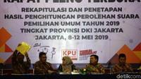 Sejumlah kota di Provinsi DKI Jakarta belum menyerahkan rekapitulasi tingkat kota untuk Pemilu 2019. Ketua KPU DKI Jakarta Betty Epsilon Idroos mengatakan penyerahan itu akan disusulkan.