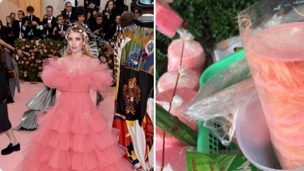 Kostum Seleb Met Gala Mirip Makanan hingga Meme Kolak yang Kocak