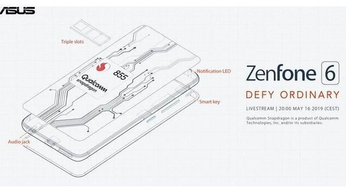 Snapdragon 855 jadi prosesor yang diusung Asus Zenfone 6. Foto: Twitter/Asus