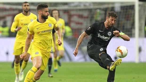 Chelsea bermain imbang 1-1 lawan Eintracht Frankfurt. (