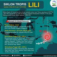 Siklon Tropis Lili Tumbuh di Laut Timor, Awas Cuaca Ekstrem!