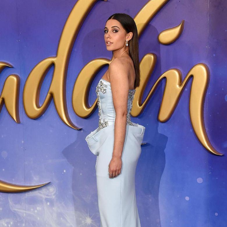 Naomi Scott saat menghadiri European Premiere Aladdin di London, Inggris pada Kamis (9/5).Stuart C. Wilson/Getty Images