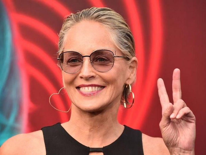 LOS ANGELES, CA - JANUARY 28:  Sharon Stone at Steven Tyler and Live Nation presents Inaugural Gala Benefitting Janies Fund at Red Studios on January 28, 2018 in Los Angeles, California.  (Photo by Neilson Barnard/Getty Images)