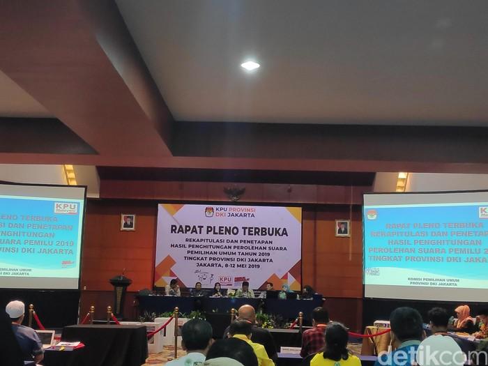 Rekapitulasi Pemilu 2019 di Jakarta. (Matius Alfons/detikcom)