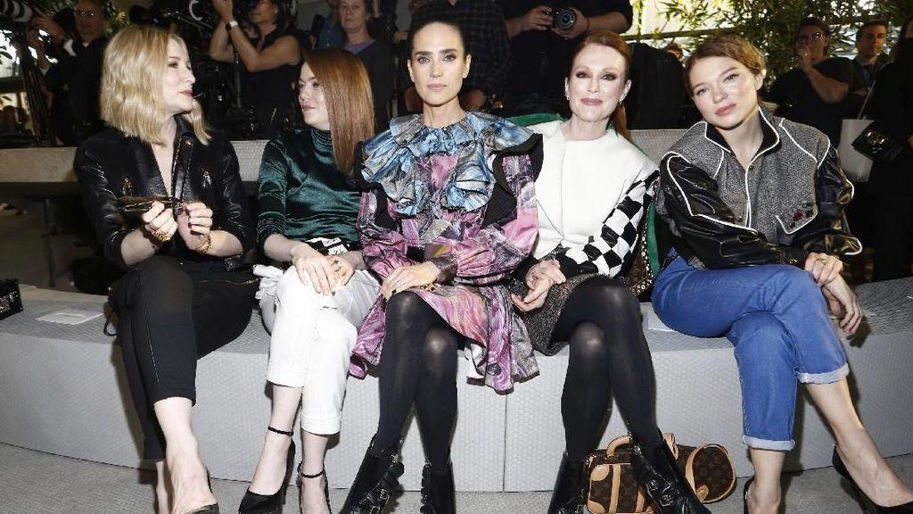 Foto: Melihat Gaya Seru Selebriti di Front Row Bandara Louis Vuitton