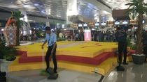 Ornamen Ramadhan di Terminal 3 Bandara Soetta Roboh, Tak Ada Korban