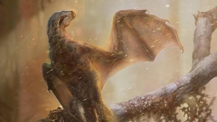 Rekaan ilustrasi dinosaurus dengan sayap seperti kelelawar. (Foto: Dok. Chung-Tat Cheung)