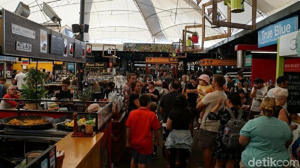 Fremantle di Australia Barat adalah kota pelabuhan yang menawan. Ikonnya adalah Fremantle Market (Masaul/detikcom)