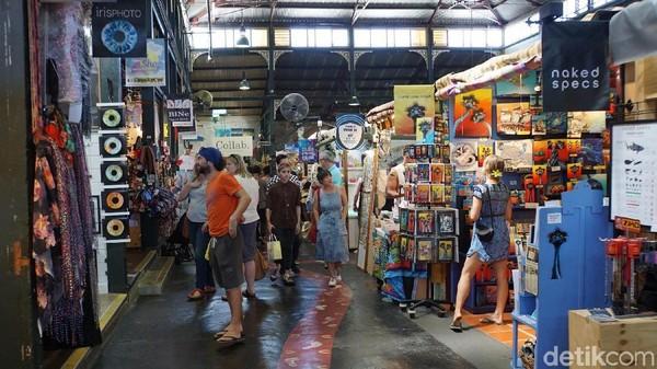 Fremantle Market adalah tempat wisata belanja di Fremantle Tempat ini bernuansa klasik dengan latar bangunan yang sudah tua (Masaul/detikcom)