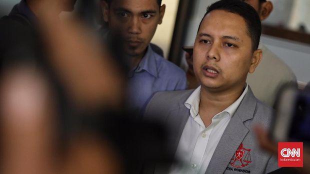 Kuasa hukum Kivlan Zen, Pitra Romadoni Nasution.