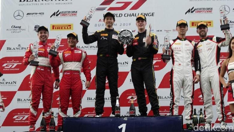 Rio dan David podium dua di kelas Pro Am GT 3. Foto: T2 Motorsports