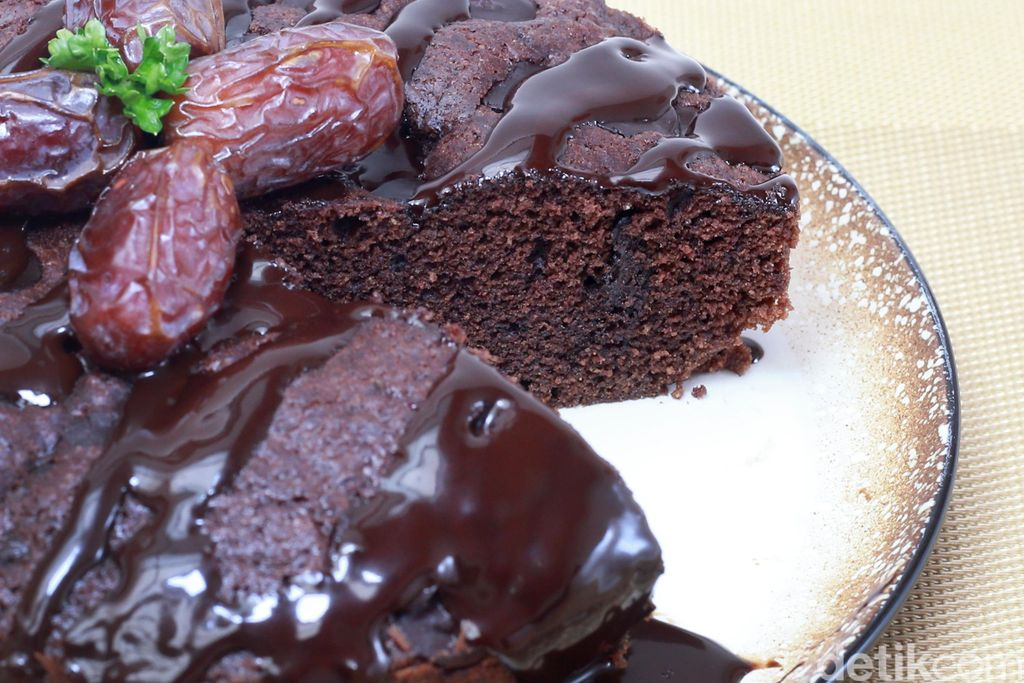 resep philips : chewy double chocolate cake