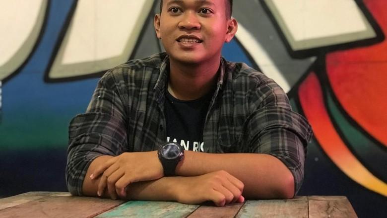 Pemenang #JalanBarengGrab, Alamsyah. Foto: Robi Setiawan/detikcom