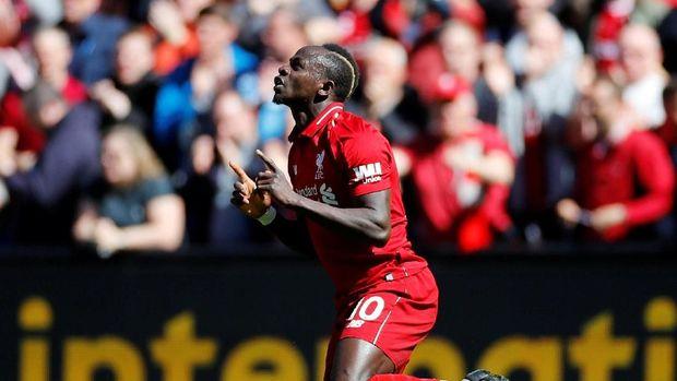 Sadio Mane berhasil mencetak dua gol dan merebut sepatu emas bersama Mohamed Salah dan Pierre Emerick Aubameyang.