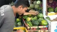 Berkah Pedagang Buah Blewah di Jember Saat Ramadhan