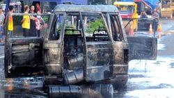 Mobil yang Terbakar di Juanda Angkut BBM