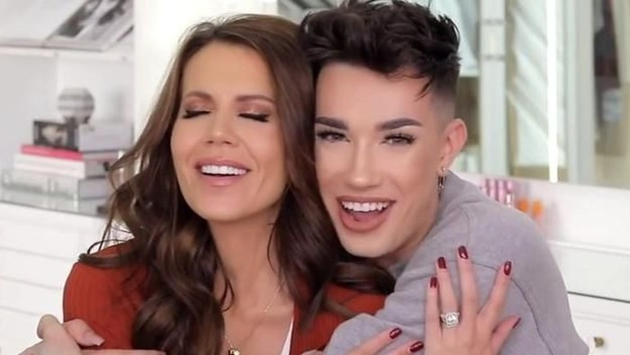 Tati Westbrook dan James Charles. Foto: YouTube